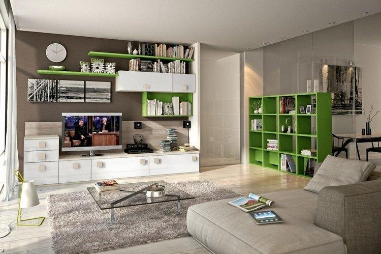 verdes salones paredes situaciones estilos piezas
