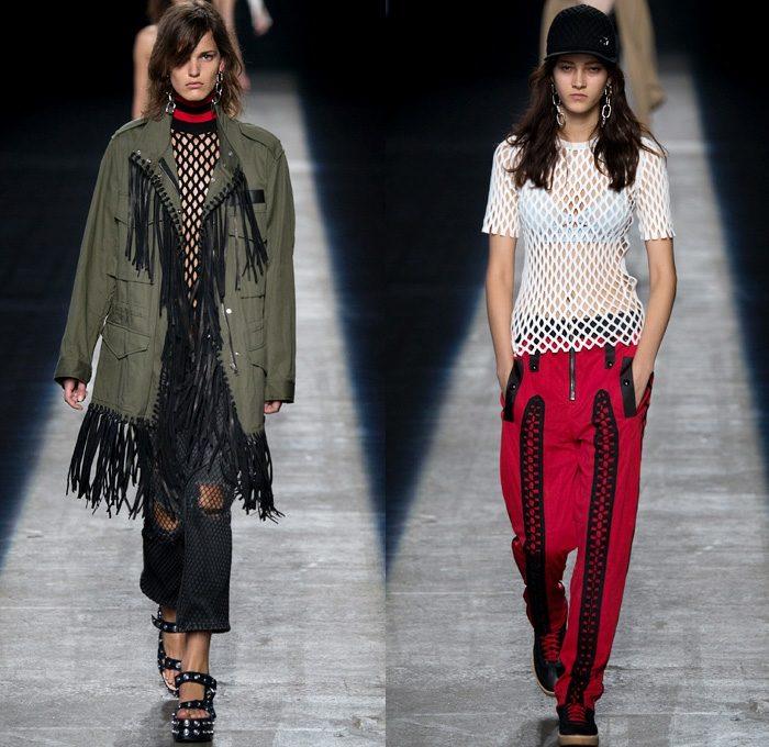 Alexander Wang 2016 coleccion primavera verano pantalon rojo ideas