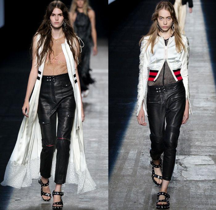 Alexander Wang 2016 coleccion primavera verano ropa cuero ideas
