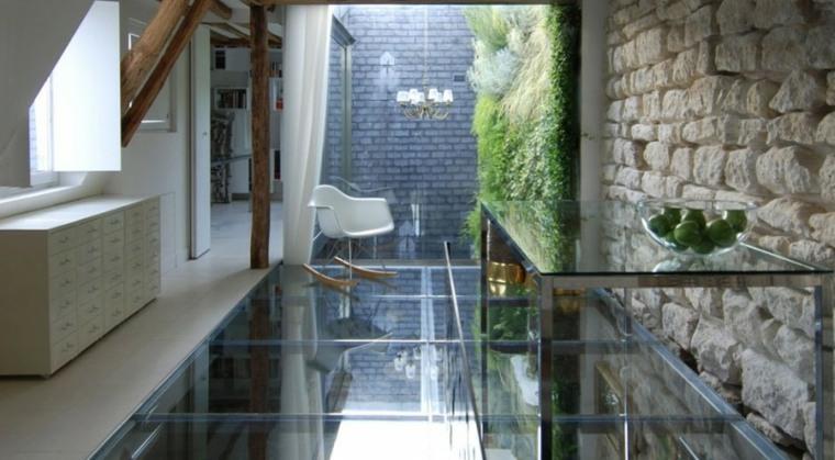 Vidrio 35 opciones originales de suelos y techos - Suelos de cristal ...