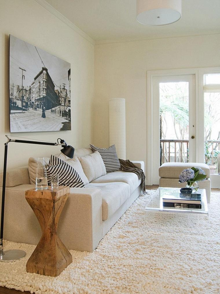 Jennifer Jones mesa cristal sofa blanca comoda ideas