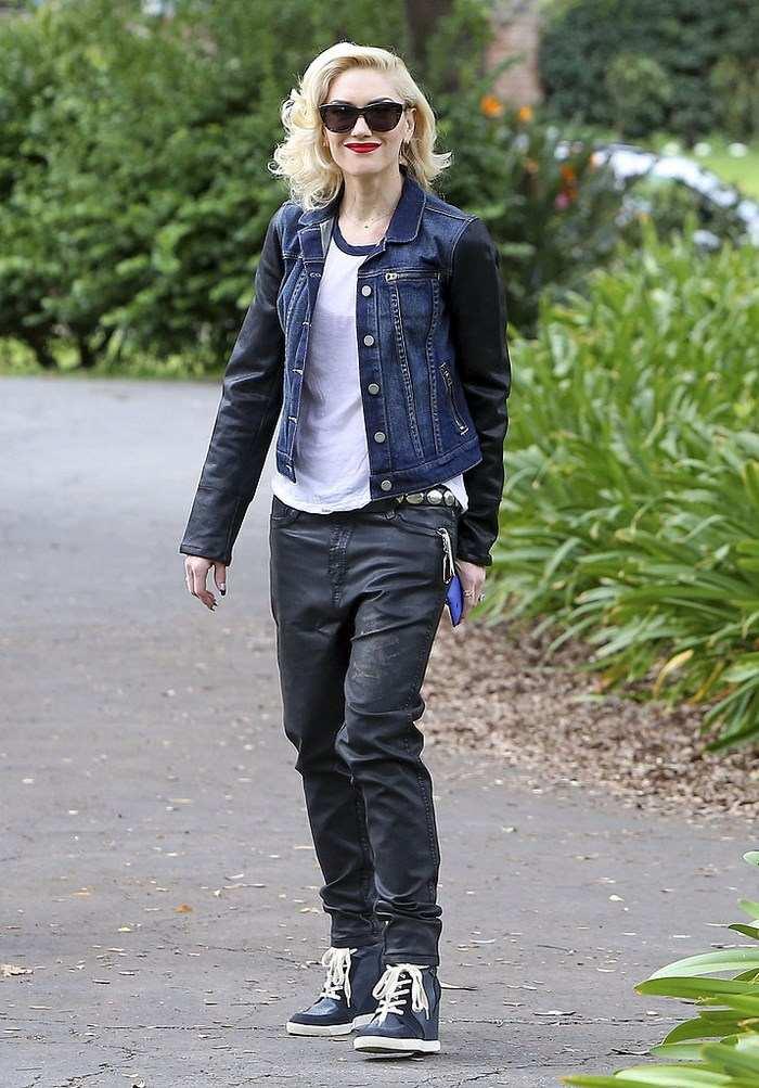 Gwen Stefani mangas cuero negros ideas