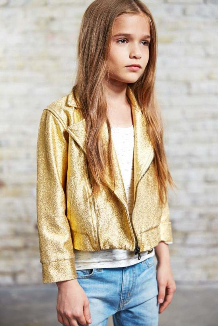 Jeans and Jacke chaqueta color oro ideas