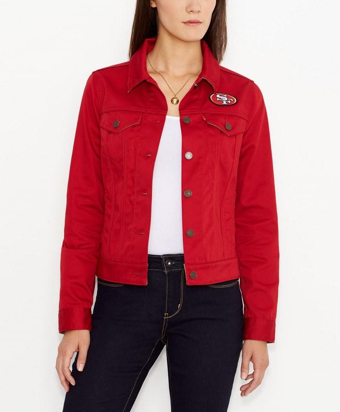 Levi's chaqueta vaquera roja ideas