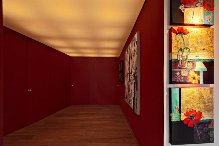 Lopez Duplan Arquitectos apartamento entrada paredes rojas ideas