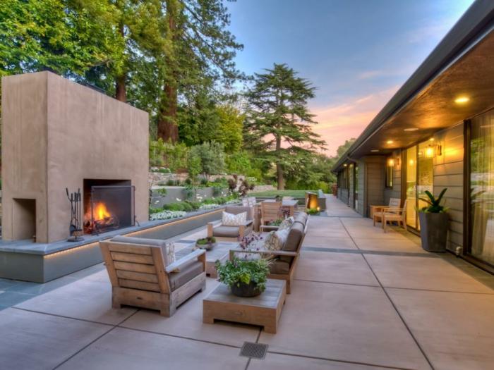 abierto patio salones muebles calles fuego