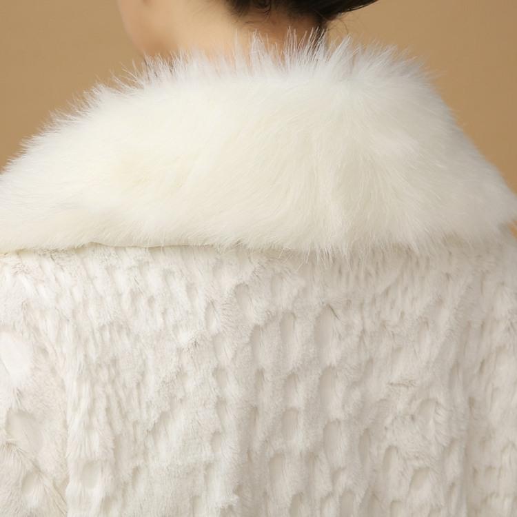abrigo piel chaqueta blanca novia