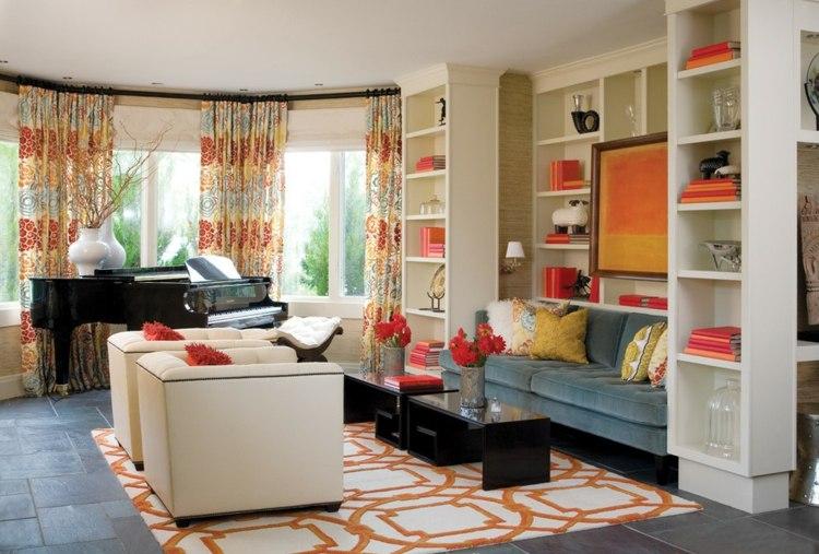 accesorios rojos salas de estar