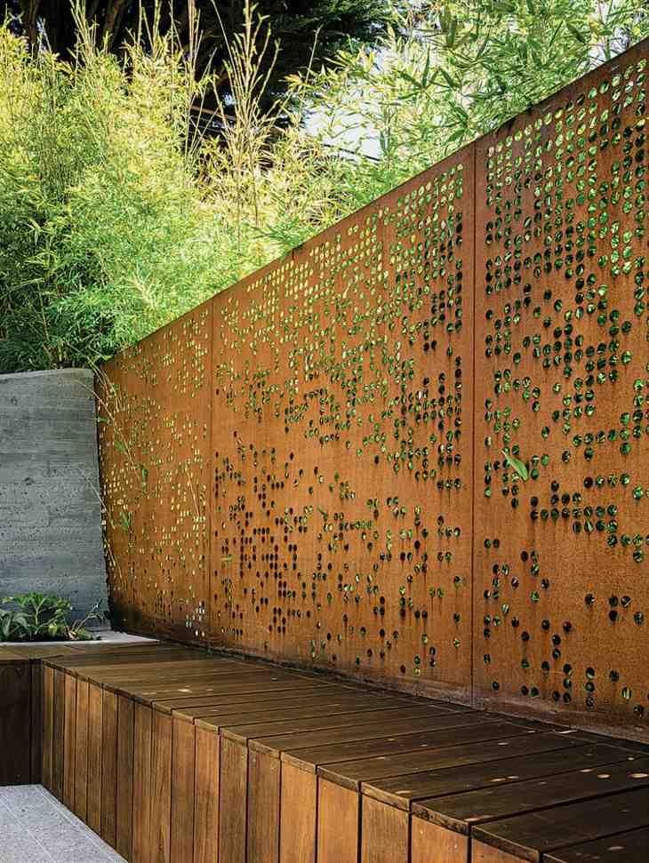 acero corten ideas salidas paredes cuentas plantas