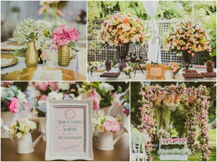adornos boda muchas arreglos flores
