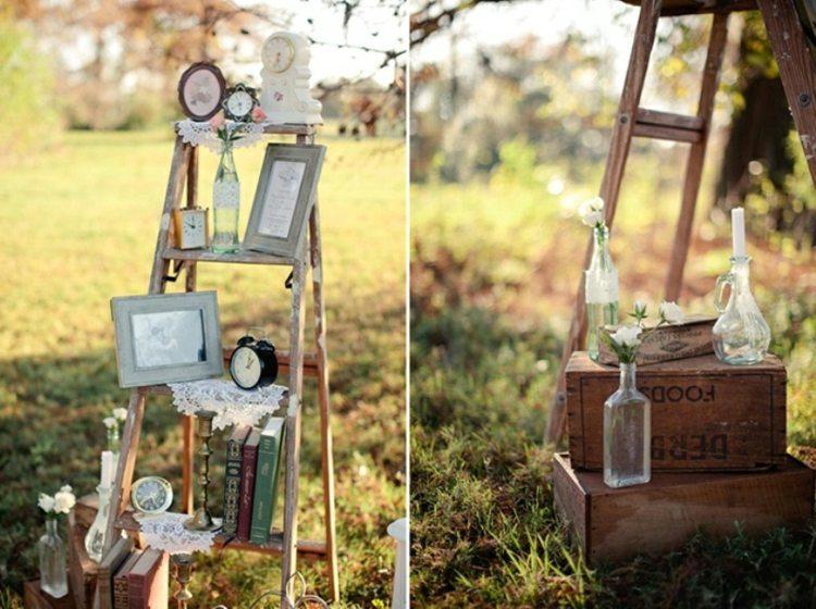 adornos estilo vintage bodas jardin