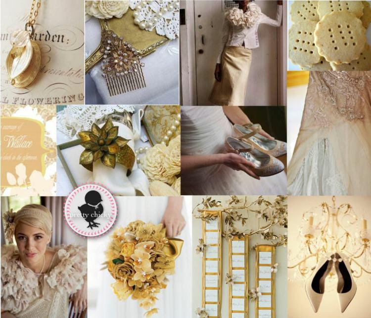 adornos vintage tonos colores dorados