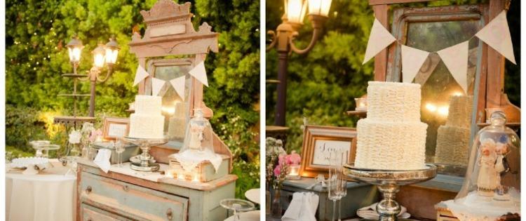 decoracion de bodas vintage - ambientes románticos retro -