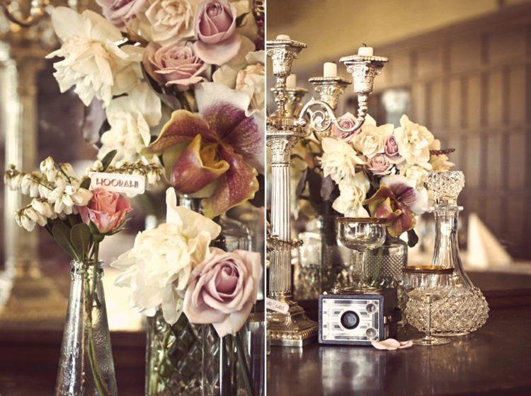 adornos retro estilo vintage flores