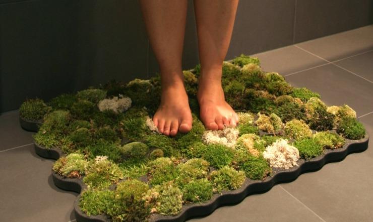 alfombra musgos cuarto baño