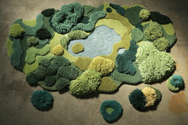 alfombras musgo originales diseños