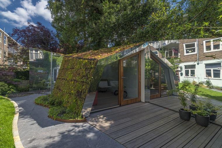 amsterdam casa cubierta azotea verde