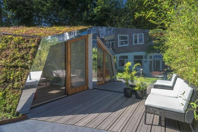 amsterdam casa estudio tejado verde