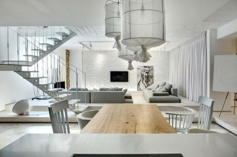 apartamento monocromatico salon paredes blancas ideas