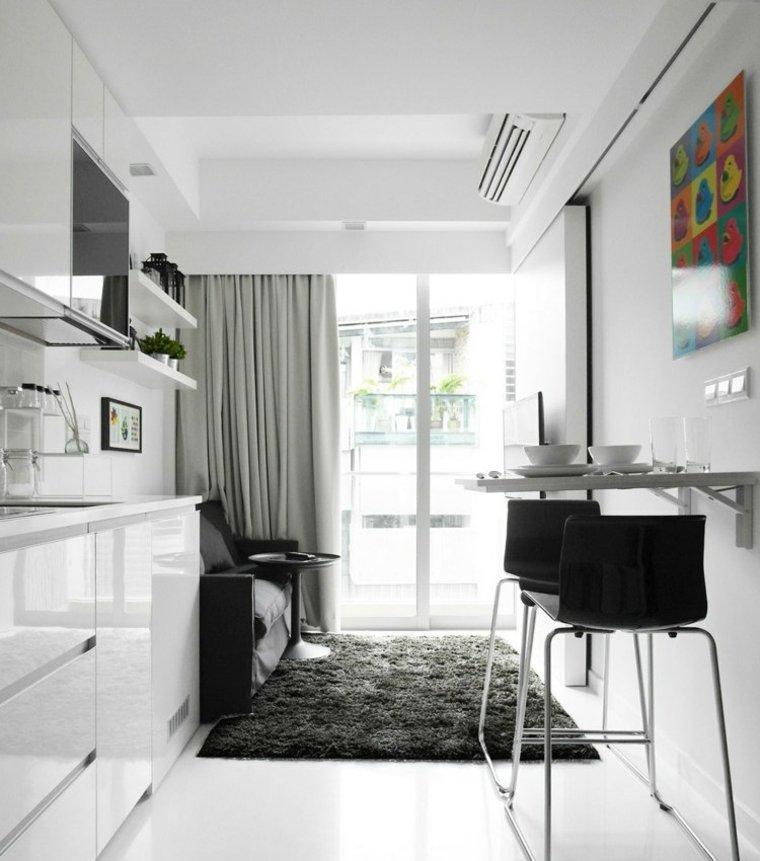 apartamentos distribucion cristales pared muebles