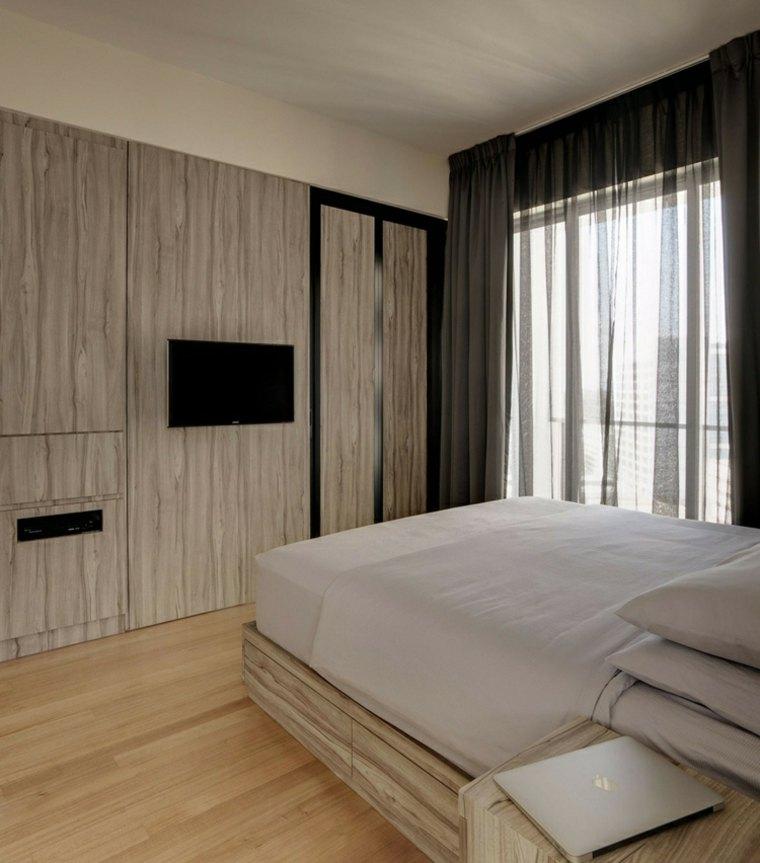 apartamentos distribucion maderas naturales claros