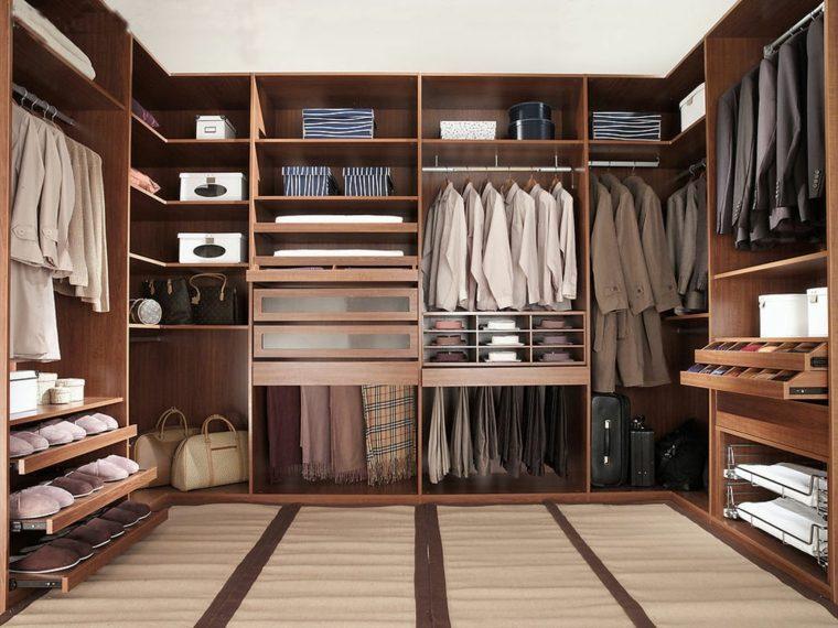 Armarios roperos sin puertas 50 dise os funcionales for Closets funcionales modernos