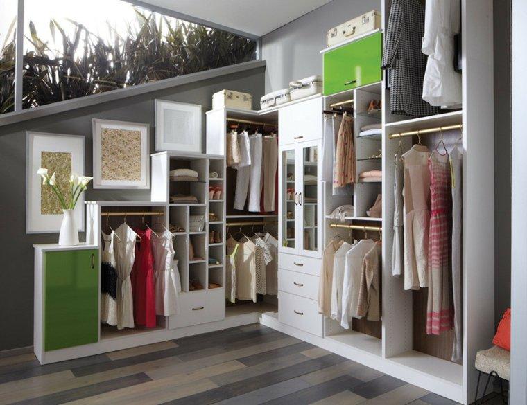 armario sin puertas blanco femenino cuadros ideas