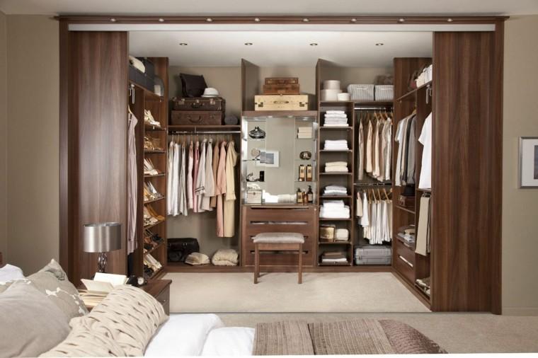 armario sin puertas dormitorio diseno elegante ideas