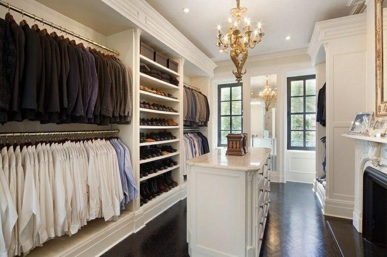 armario sin puertas espacioso isla blanca ideas