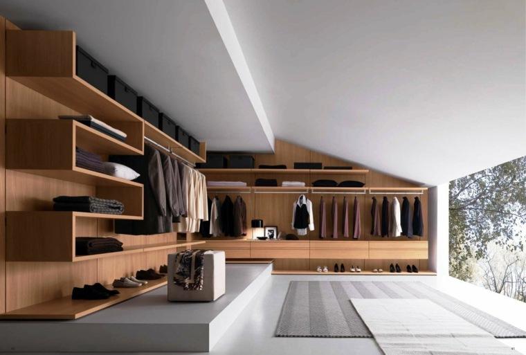 armario sin puertas estantes madera inspirador ideas