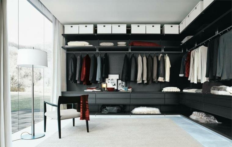 armario sin puertas estantes techo ideas