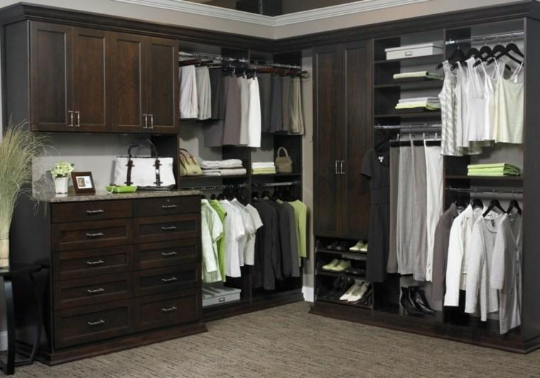 armario sin puertas oscuro madera ideas