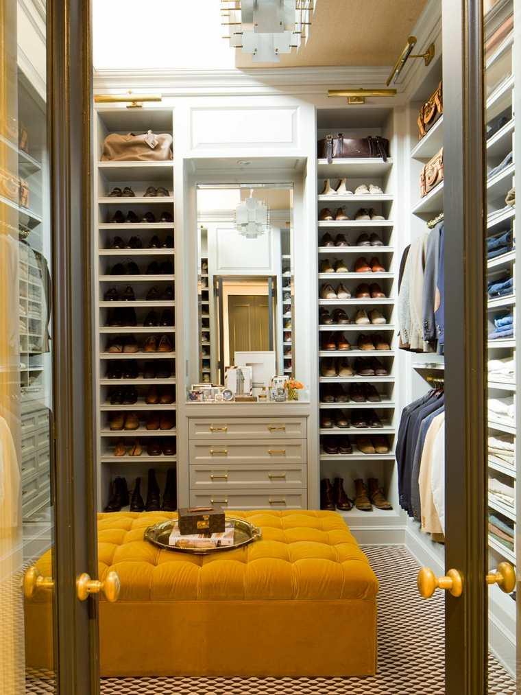 armario sin puertas taburete amarillo opciones zapatos ideas