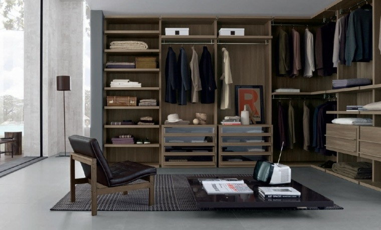 armarios roperos sin puertas 50 dise os funcionales. Black Bedroom Furniture Sets. Home Design Ideas