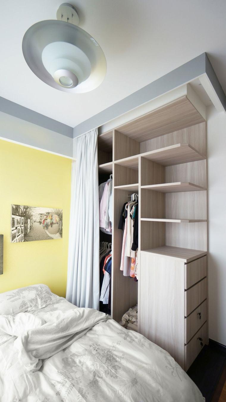 Armarios roperos sin puertas 50 dise os funcionales for Roperos para habitaciones pequenas
