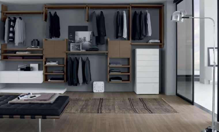 armarios roperos estantes abiertos madera ideas