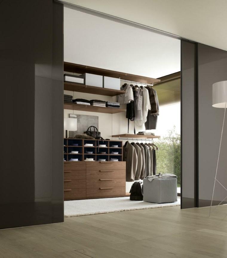 2017 Modern Simple Closet Wooden Designs In Bedroom Wall: Armarios Roperos Sin Puertas 50 Diseños Funcionales