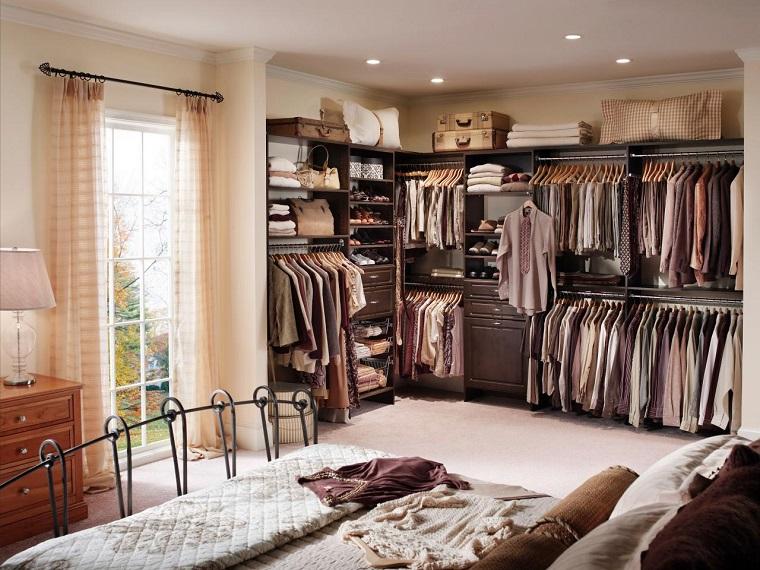 armarios roperos sistema abierto dormitorio ideas
