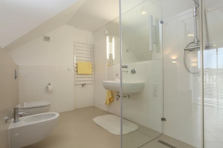 aseos modernos blanco ducha opciones ideas