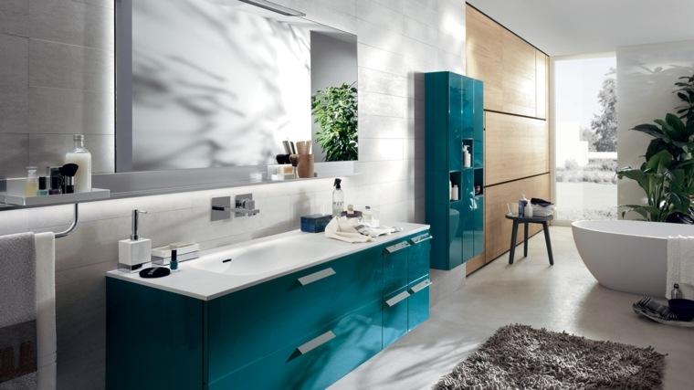 aseos modernos muebles color azul ideas
