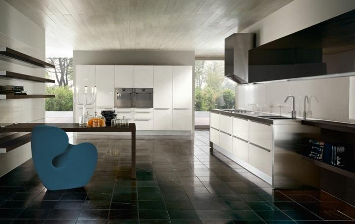 azul futurista sala cocinas salones