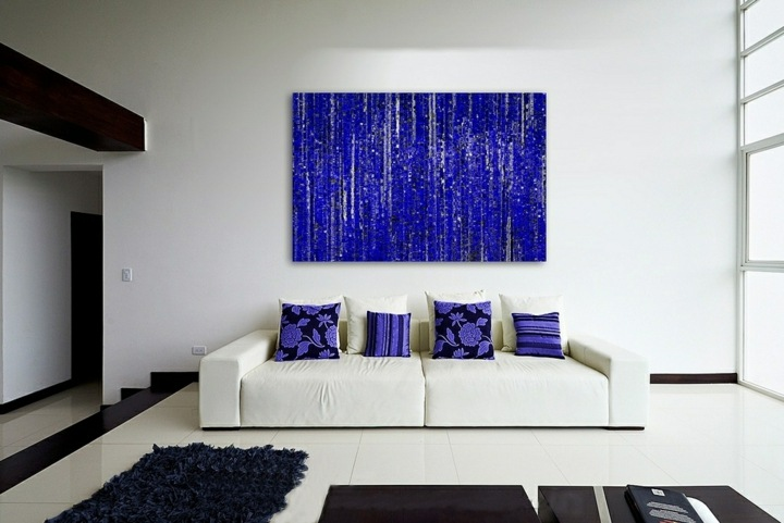 azules contrastes paredes puercos maderas