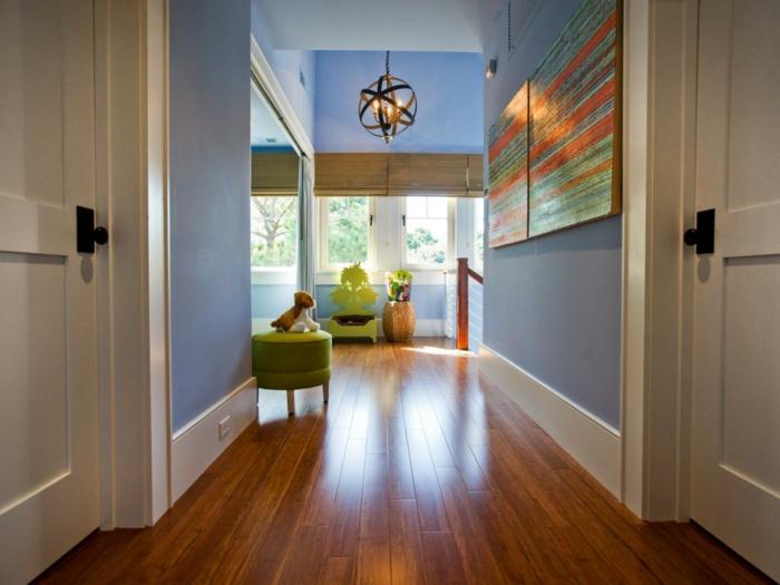 azules verdes combinados salas pendientes madera