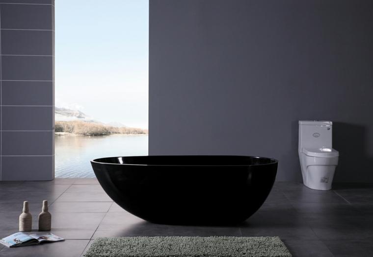 bañera moderna color negro