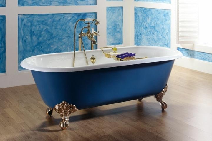 bañeras vintage detalles azules variantes dorados