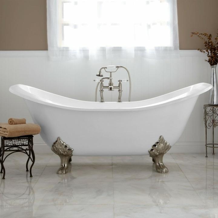 bañeras vintage detalles pintados estilos toallas