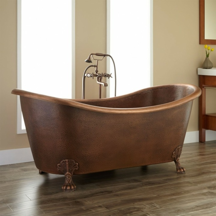 bañeras vintage detalles plantas dorados muebles salones