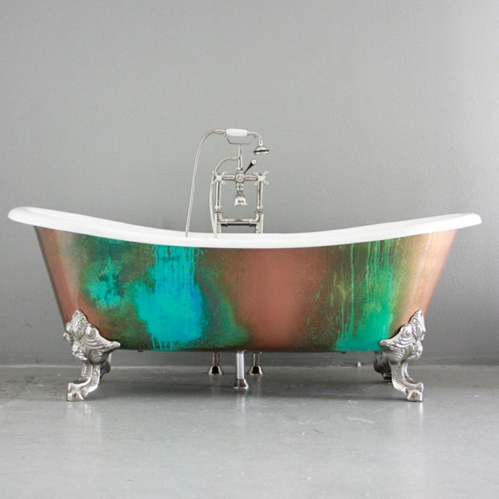 bañeras vintage detalles tendencias casas color