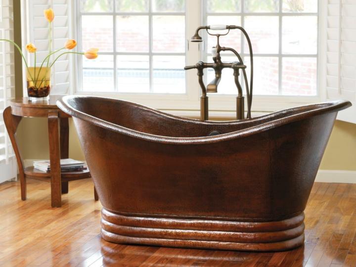 bañeras vintage detalles tendencias cortinas flores