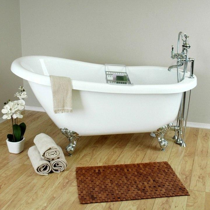 bañeras vintage detalles tendencias flores macetas